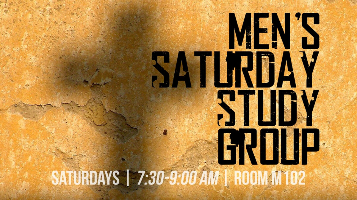Men's Saturday Study Group Winter/Spring 2018