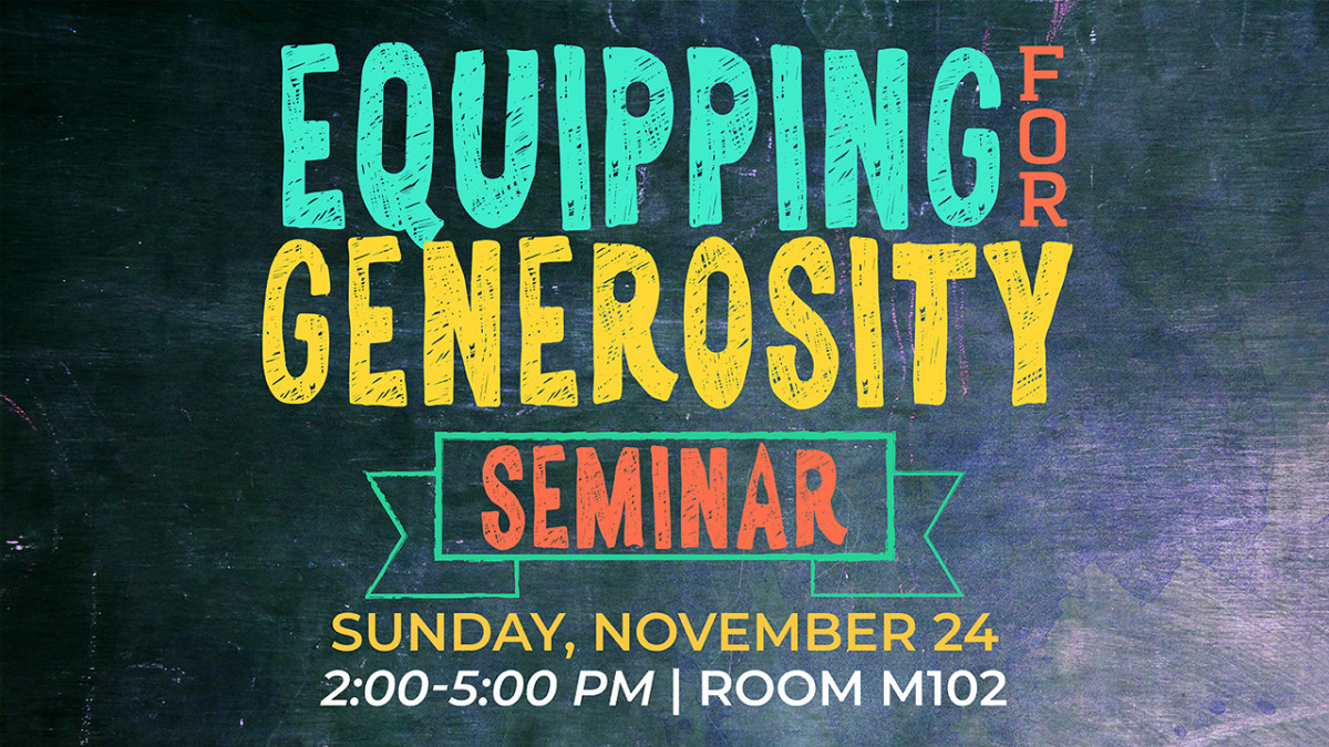 Equipping for Generosity Seminar