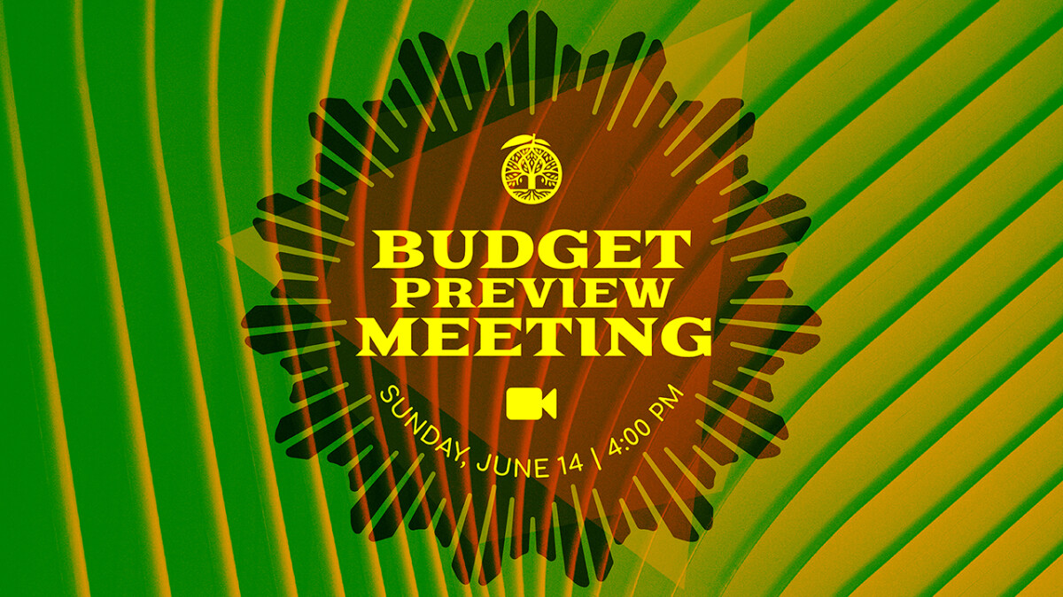 Annual Budget Preview Meeting - 2020