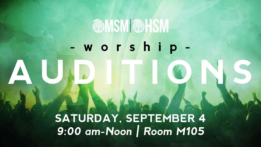 Student Ministry Worship Auditions